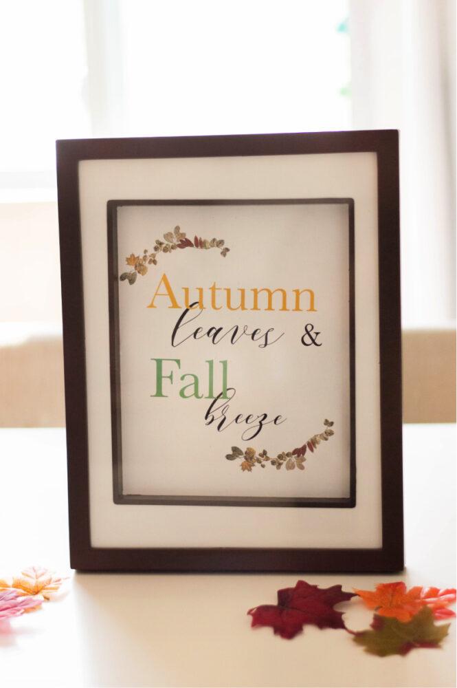 Fall Decorating Tips + Free Printable