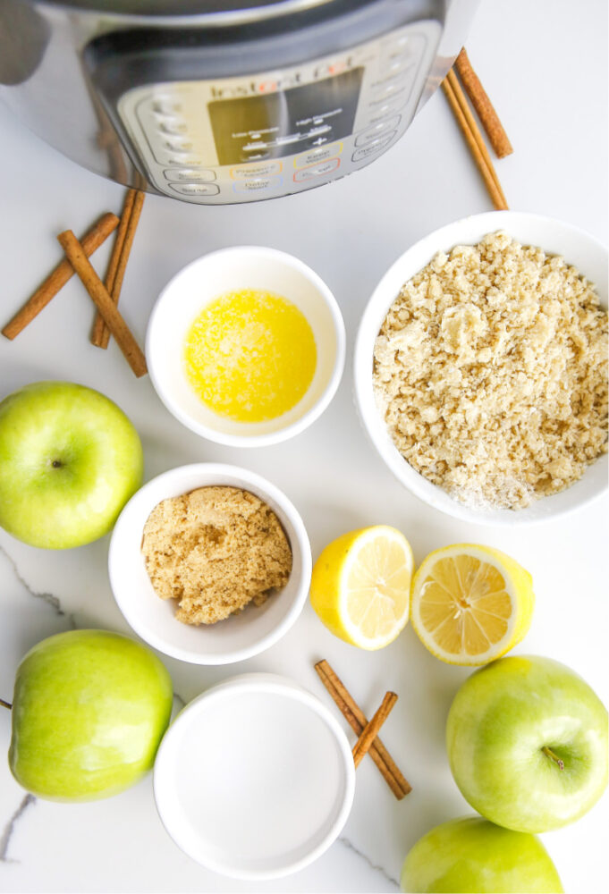 Instant Pot Apple Crisp with Salted Caramel Drizzle  Ingredients
