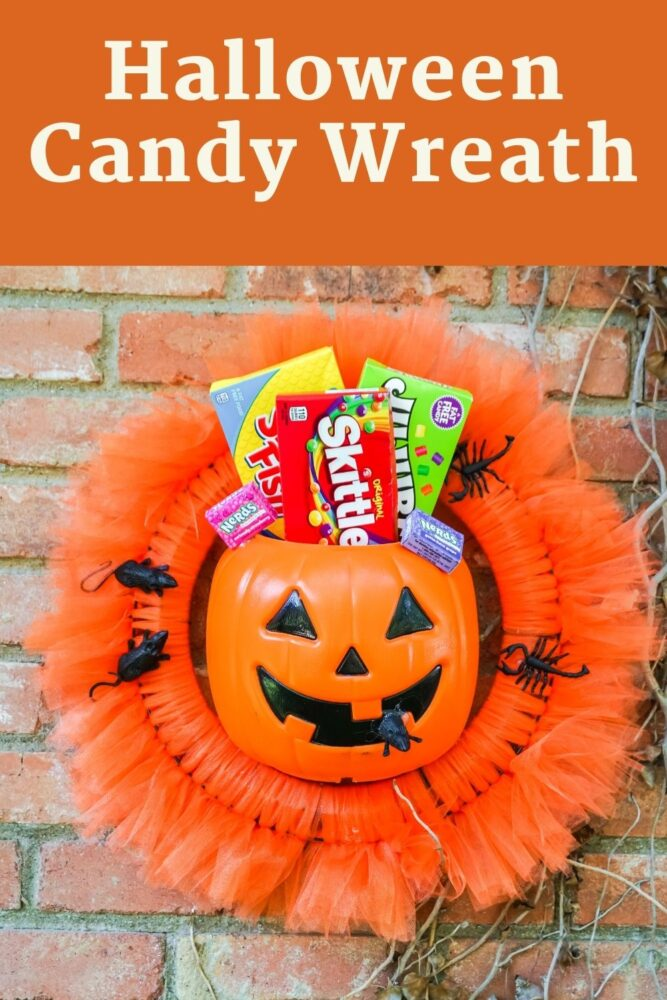 Halloween Candy Wreath Pin