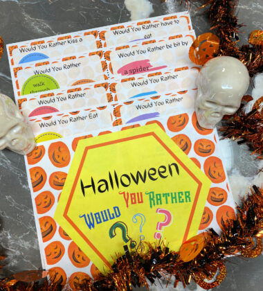 Halloween Printable Game - Would You Rather