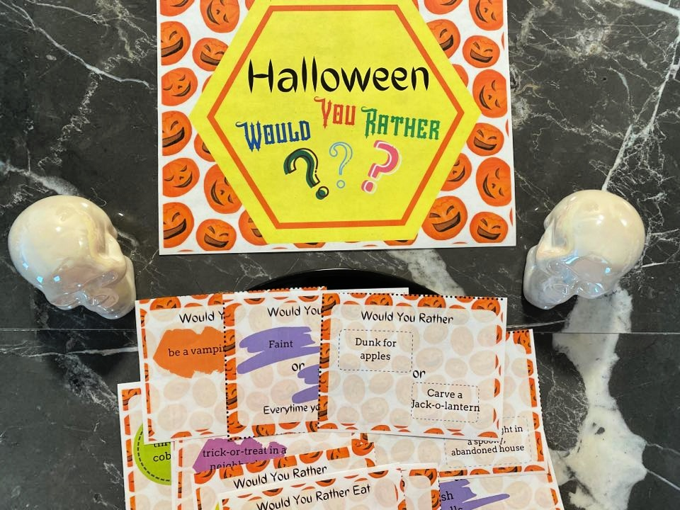 Halloween Printable Would You Rather