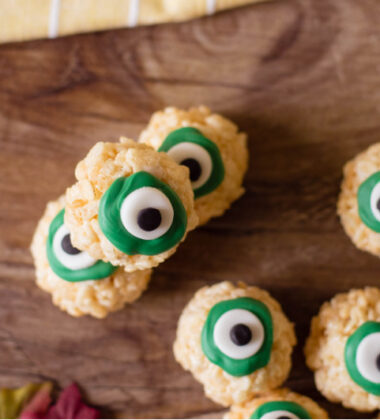 Rice Krispie Eyeballs