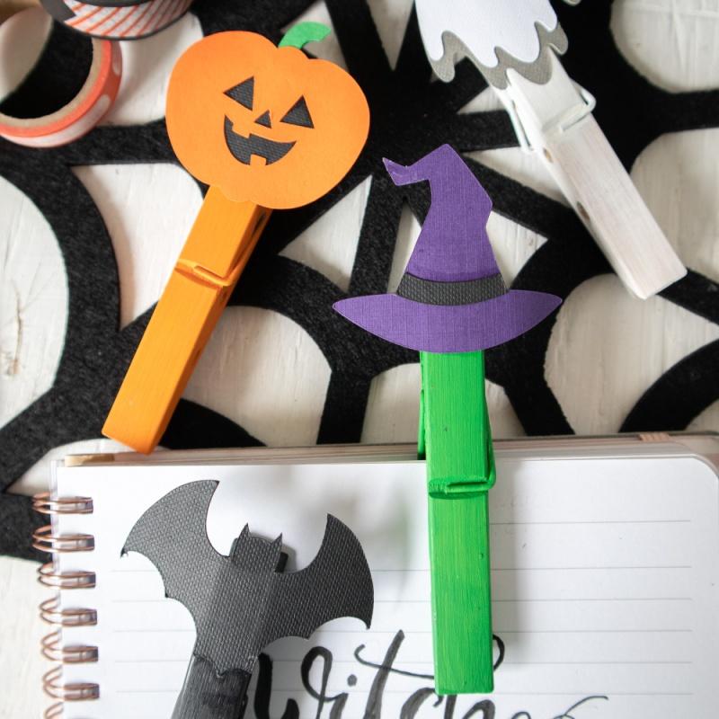 Clothespins Halloween Craft