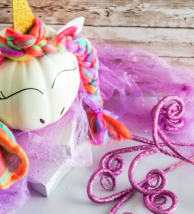 Cricut Unicorn Pumpkin