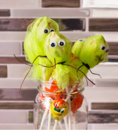 DIY Monster and Zombie Lollipops