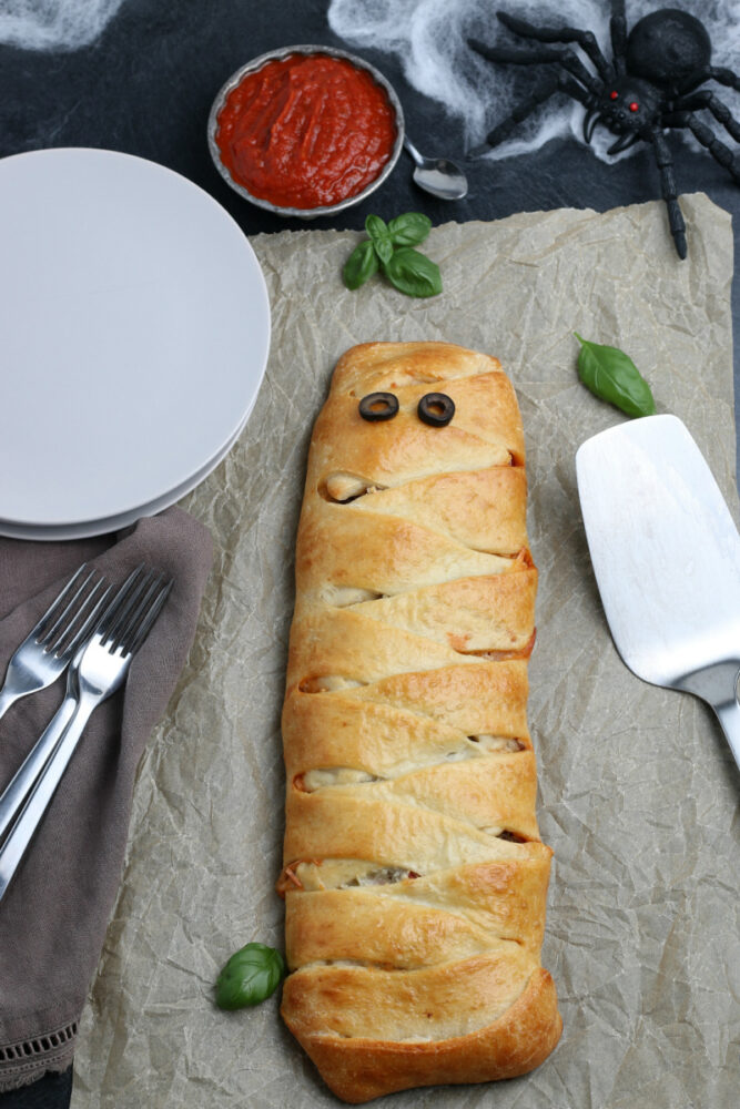 Calzone on a table
