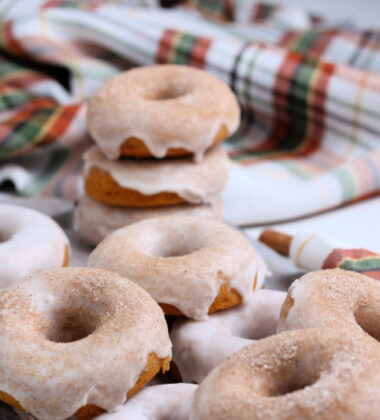 Pumpkin Donuts on a napkin