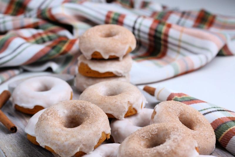Pumpkin Donuts on a napkin