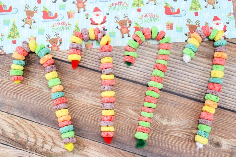 Fruit Loop Candy Cane Ornaments