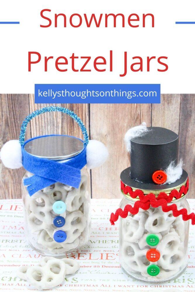 Snowman Pretzel Jars Pinterest