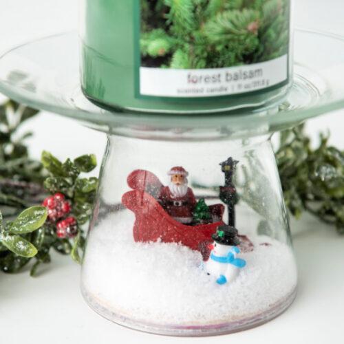 Christmas Scene Candle Pedestal