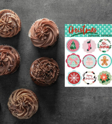 DIY Christmas Cupcake Toppers