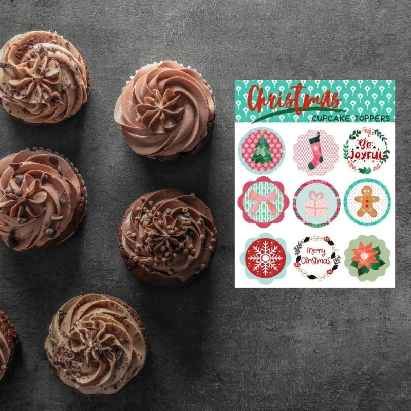 DIY Christmas Cupcake Toppers