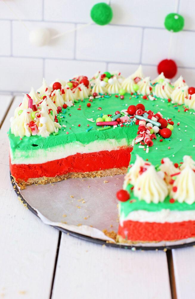 No-Bake Christmas Cheesecake