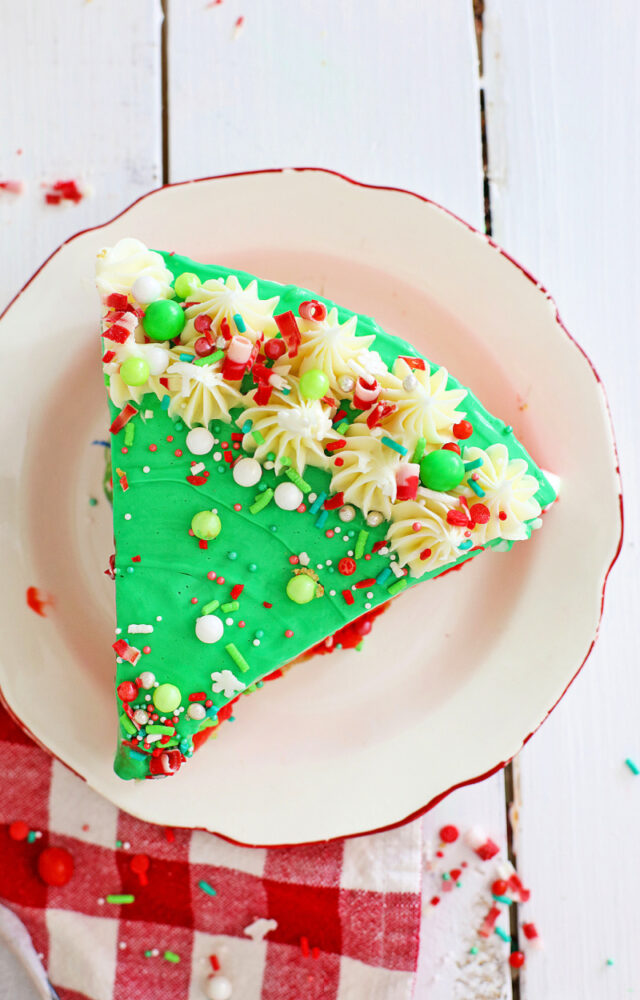 Slice of Christmas Cheesecake