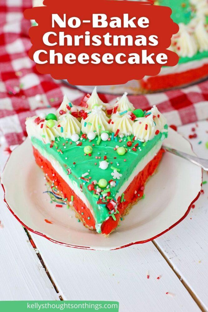 No-Bake Christmas Cheesecake Recipe