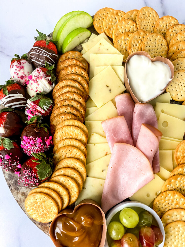 Adult Valentine's Day Charcuterie Board