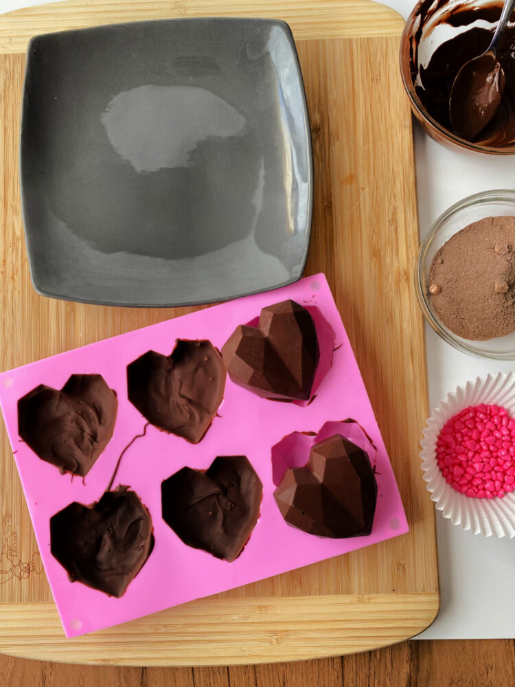 Heart-Shaped Hot Cocoa Bombs