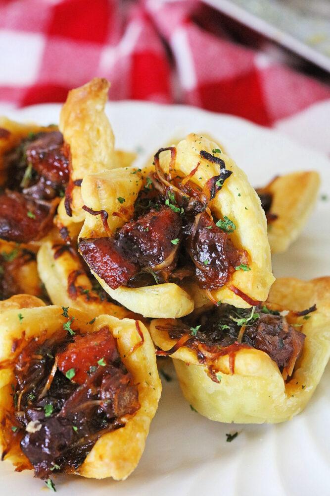 Close up of Kielbasa Bacon Bites