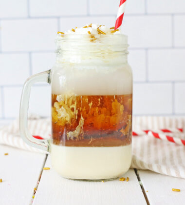 Layered Root Beer Float Cocktail