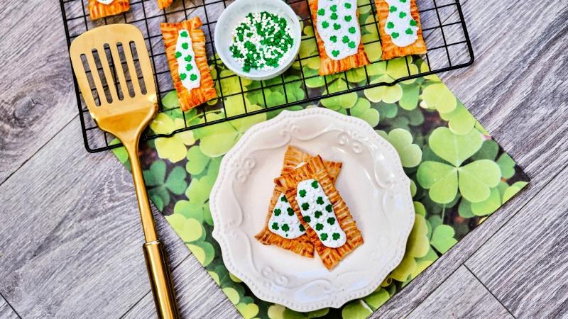 Air Fryer St. Patrick's Day Pop Tarts