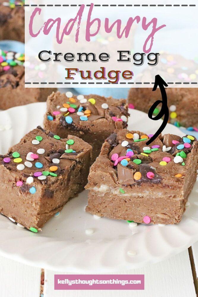 Cadbury Creme Egg Fudge