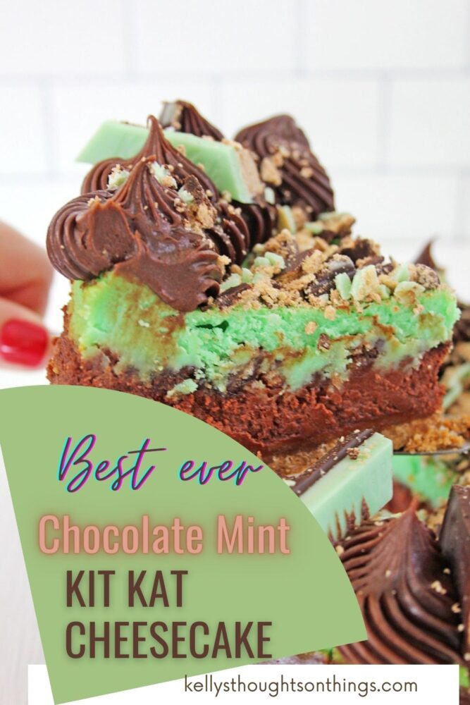 Chocolate Mint Kit Kat Cheesecake