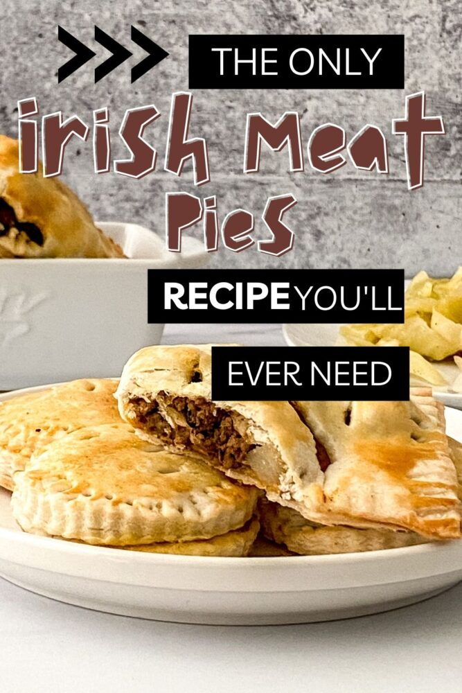 Irish Meat Pies on a plate Pin