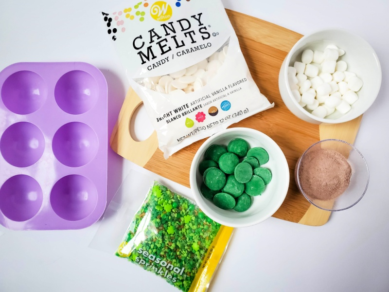 St. Patrick's Day Hot Cocoa Bombs ingredients