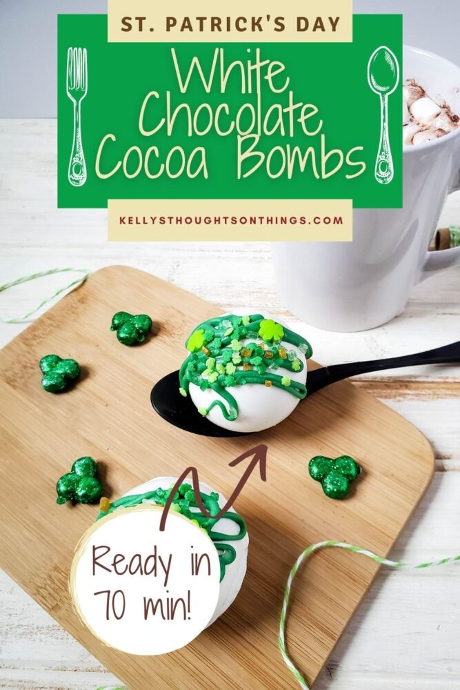 White Chocolate St. Patrick's Day Cocoa Bombs