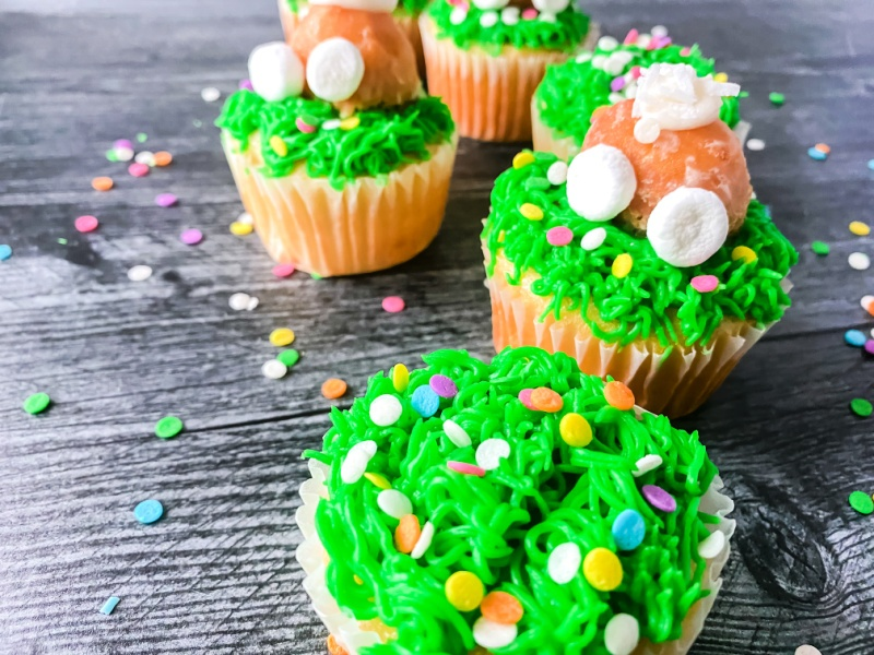 bunny butt cupcake