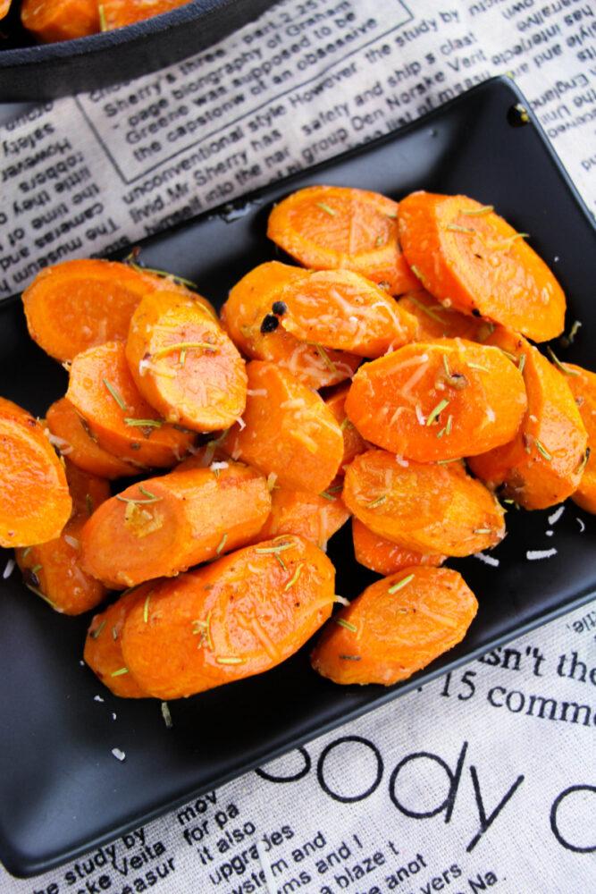 Garlic Parmesan Carrots