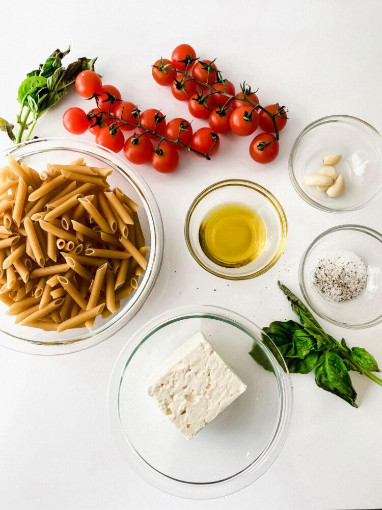 TikTok Viral Feta Pasta ingredients