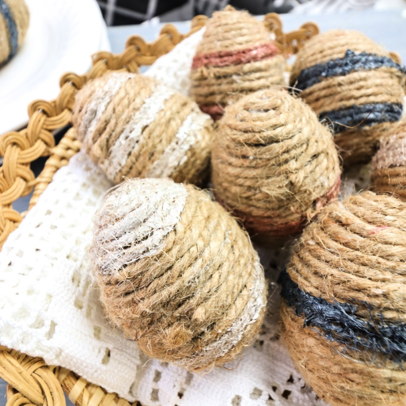 Twine-Wrapped Plastic Eggs