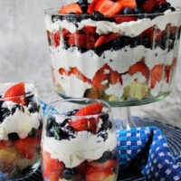 trifle in jars