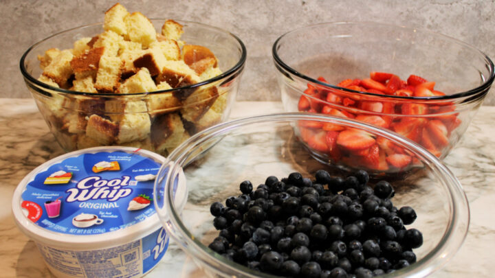 Red White and Blue Trifle Recipe ingredients