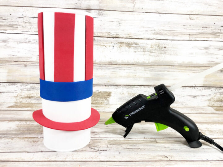 Recycled Chip Can Uncle Sam Patriotic Craft