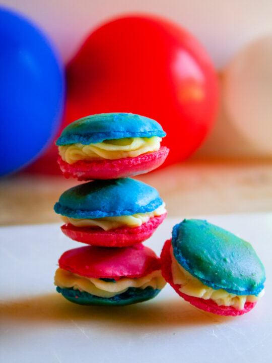 Red White and Blue 4th of July Macarons