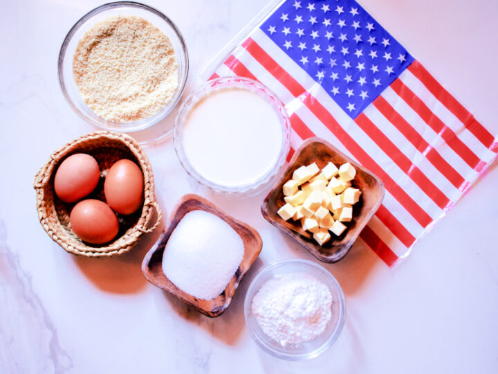 Red White and Blue 4th of July Macarons ingredients