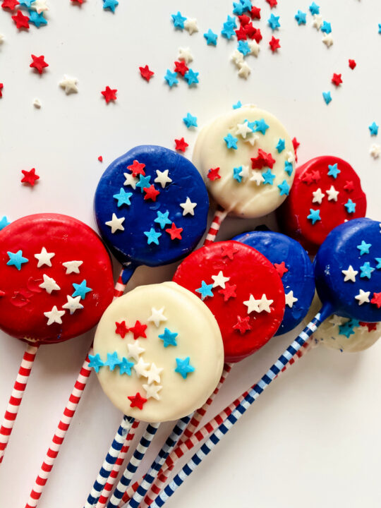 Red, White and Blue Oreo Pops