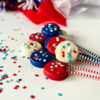 Red, White and Blue Oreo Pops Recipe