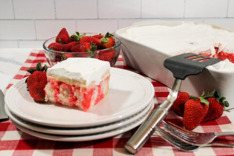 This Strawberry Cheesecake Poke Cake A Delicious Dessert Recipe
