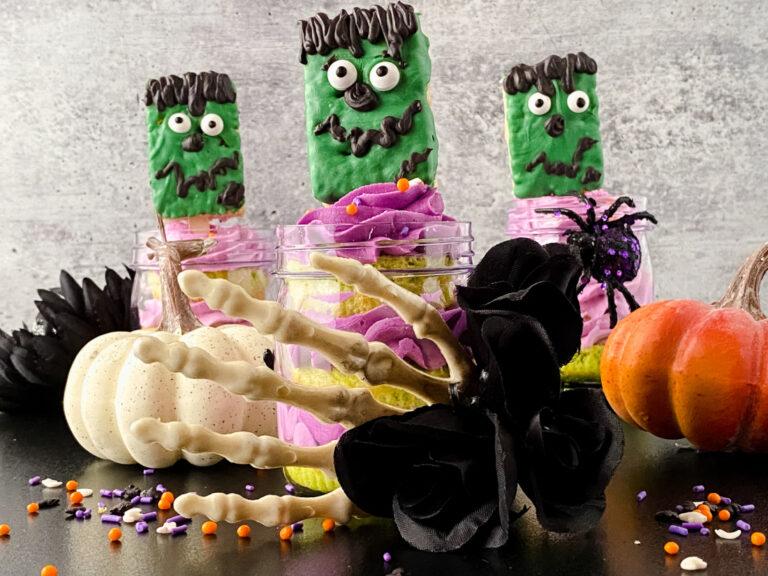 Frankenstein Cupcakes in a Jar Tutorial