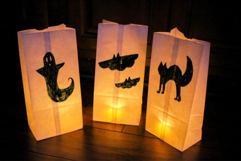 Spooky Paper Luminaries Craft